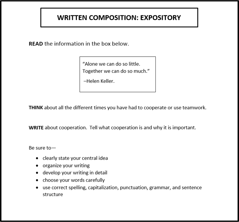 fourth grade essay test Exemplar grade 4 writing test prompt discoveractaspireorg they ask students at each grade level to respond in essay form to a single writing stimulus.